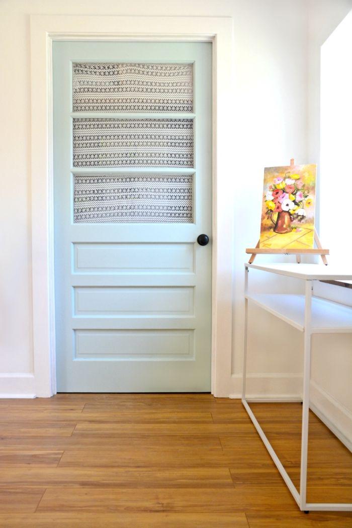 1001 ides originales comment peindre une porte intrieure petit rideau comment peindre et repeindre