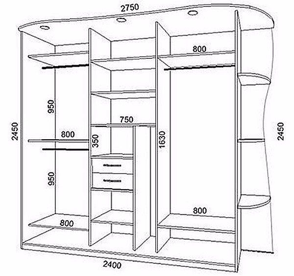 Встроенный шкаф купе своими руками: экономия пространства и 17