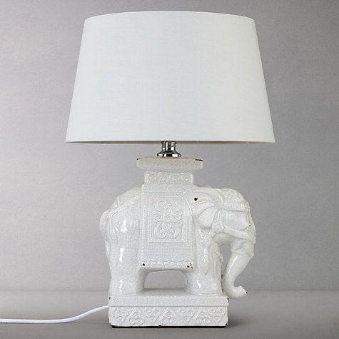 John Lewis Branwell Ceramic Elephant Lamp Base Cream Elephant Lamp Ceramic Elephant Lamp Bases