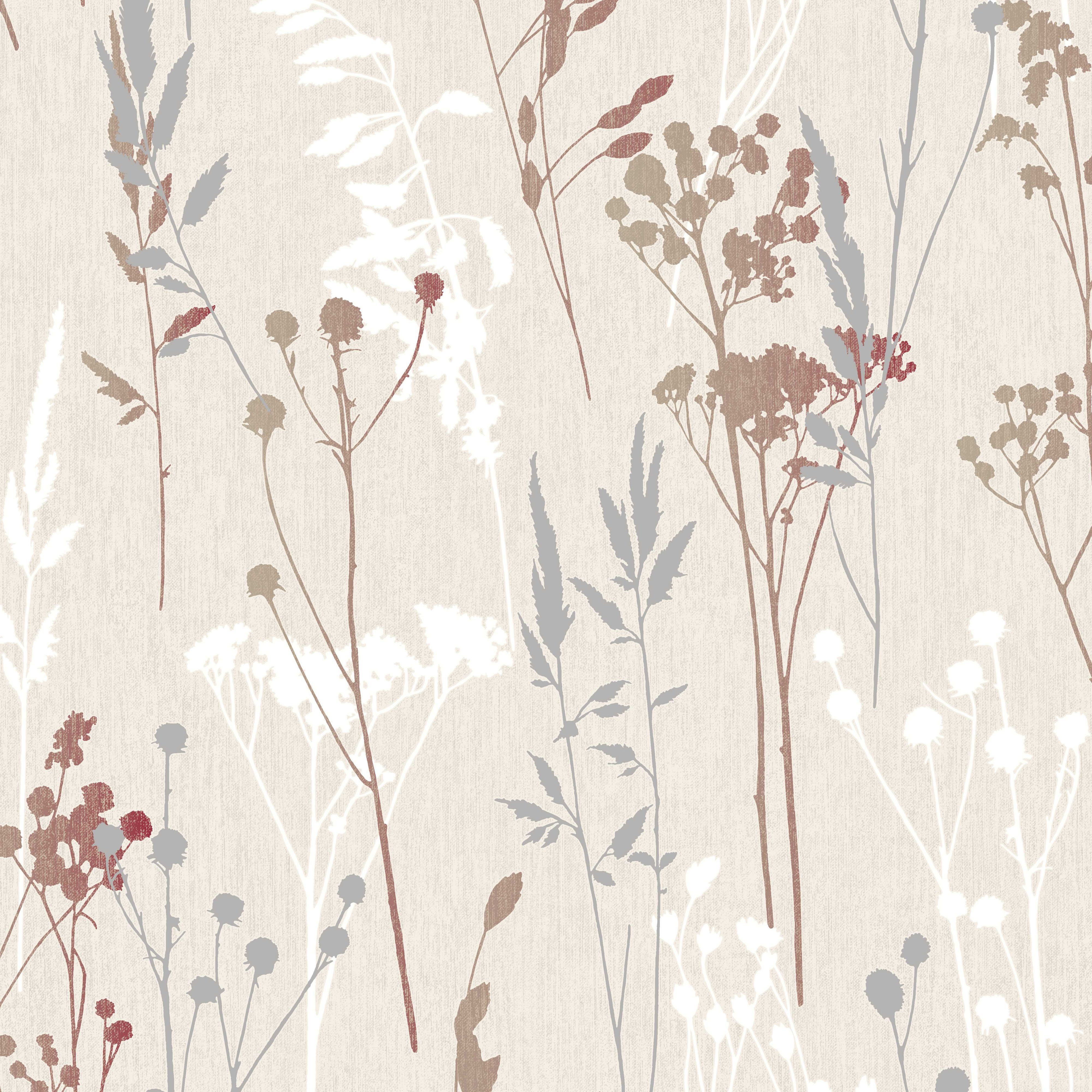 colours hayfield cream red thistle wallpaper