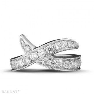 Anillos Diamantes de Oro Blanco - 1.40 quilates anillo diamante diseño en oro…