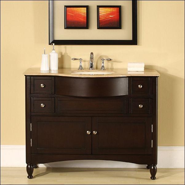 45 Inch Bathroom Vanity Top Cabinet Travertine