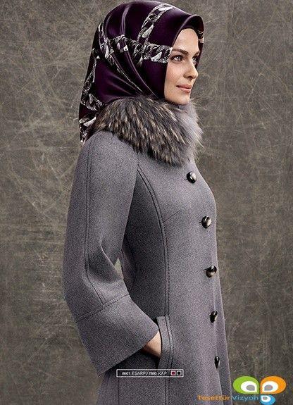 Armine Giyim 2015 2016 Sonbahar Kis Koleksiyonu Palto Bez Rukavov Musulmanki Modnye Stili