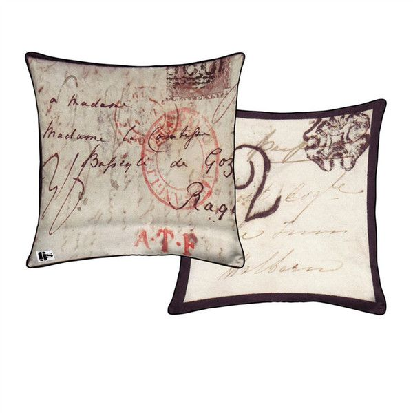 Letter Two Sided Pillow design by FJS found on Polyvore