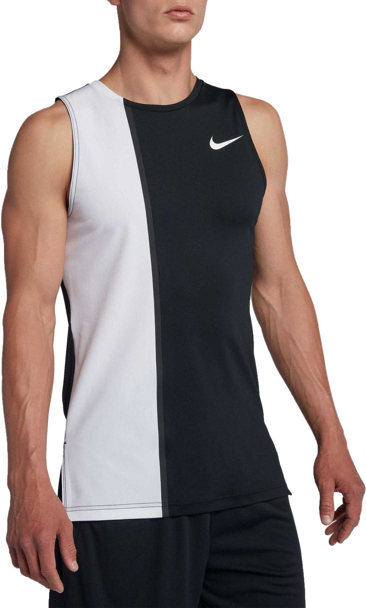 2375fc50 Nike Men's Pro Fitted 2.0 Compression Tank Top, Size: Small, White ...