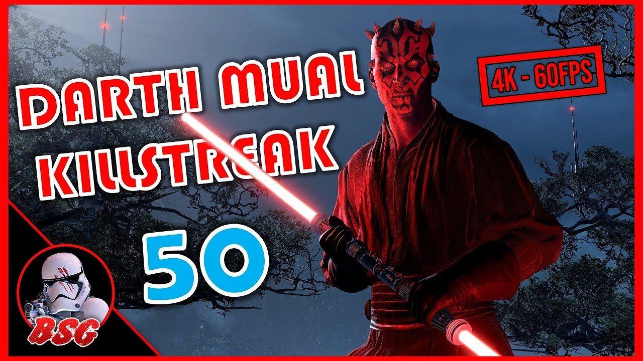 50 Darth Maul Killstreak Ps4 Battlefront 2 4k 60fps Gameplay Battlefront Darth Maul Star Wars Battlefront