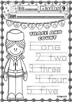 Memorial Day Kindergarten Worksheets