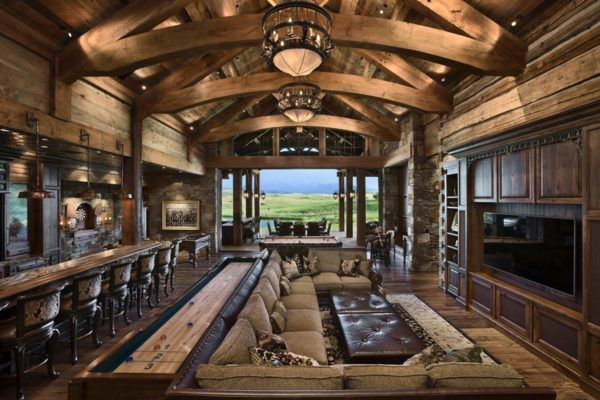 Rustic yet refined mountain home surrounded by Montana s wilderness