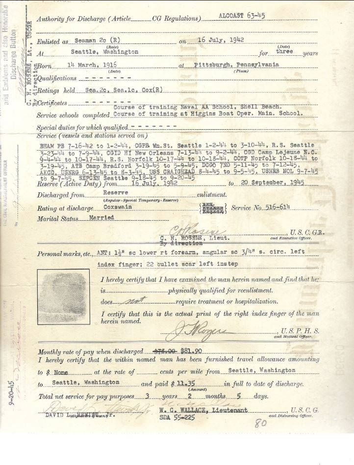 This Is A Honorable Discharge Certificate From The United States