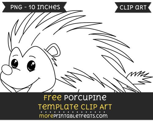 free porcupine template clipart free clipart files pinterest