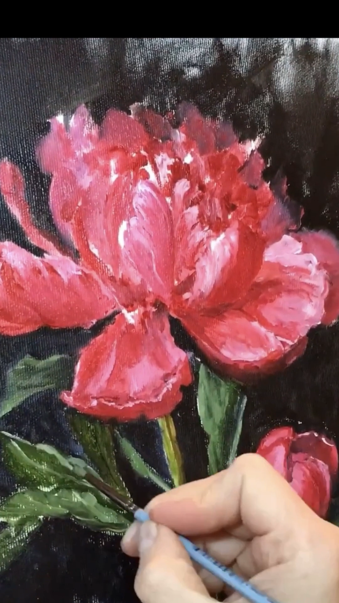 How to draw flowers | video tutorial | Red Peonies