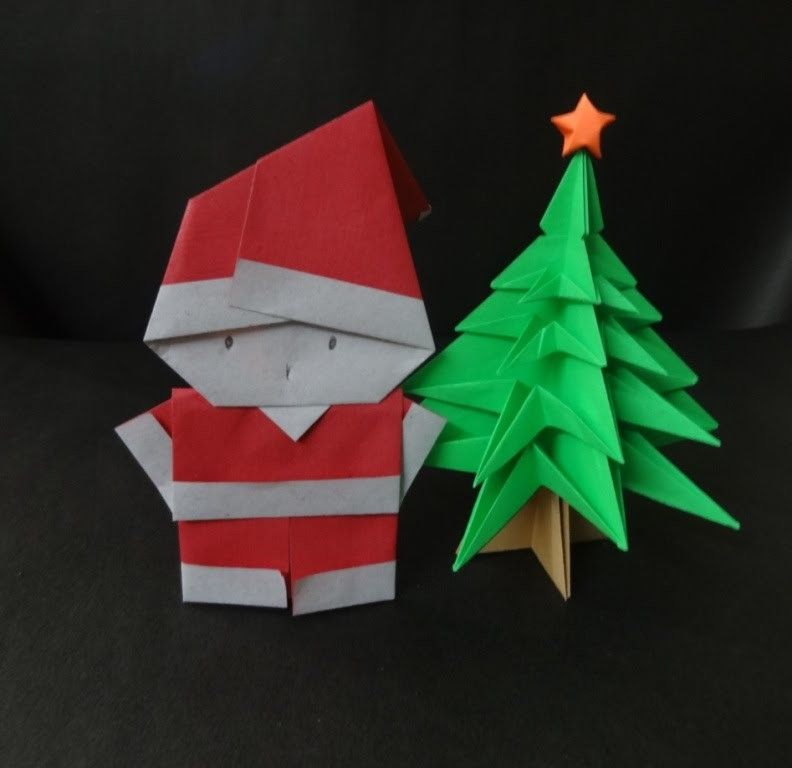 Christmas Crafts How To Fold A Santa Clause Santa Craft And Diy