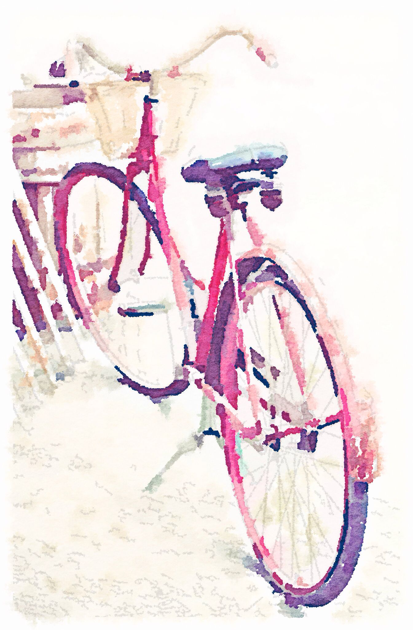 Bicycle waterlogue in 2019 | Bicycle painting, Bicycle ...