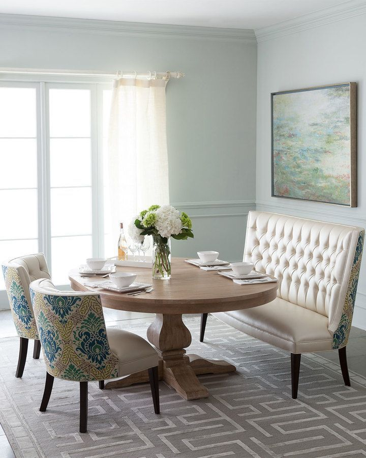 settee for kitchen table order cabinets online image result horchow dining home design