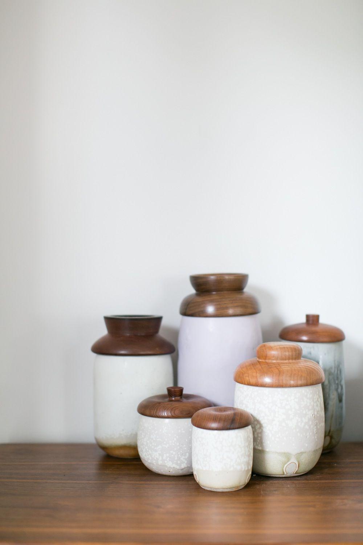 Image of Turned Wood Lided Vessels