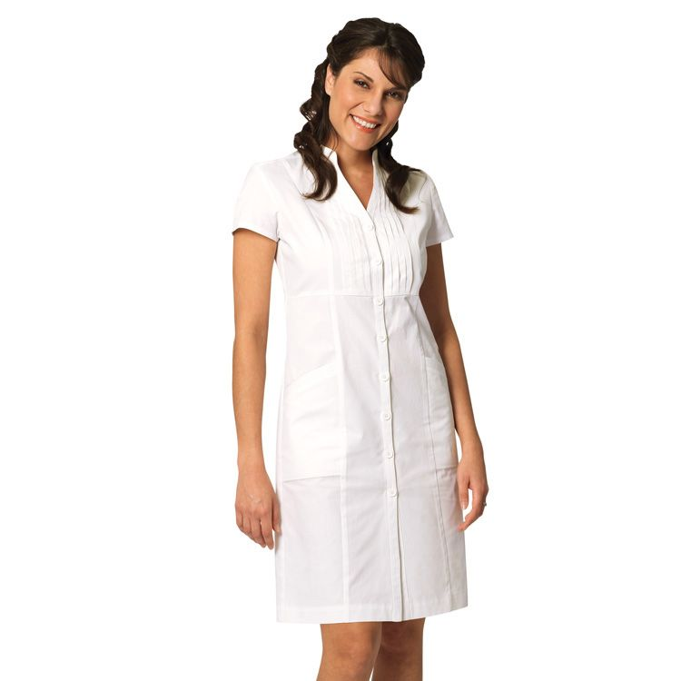 Long white uniform dresses