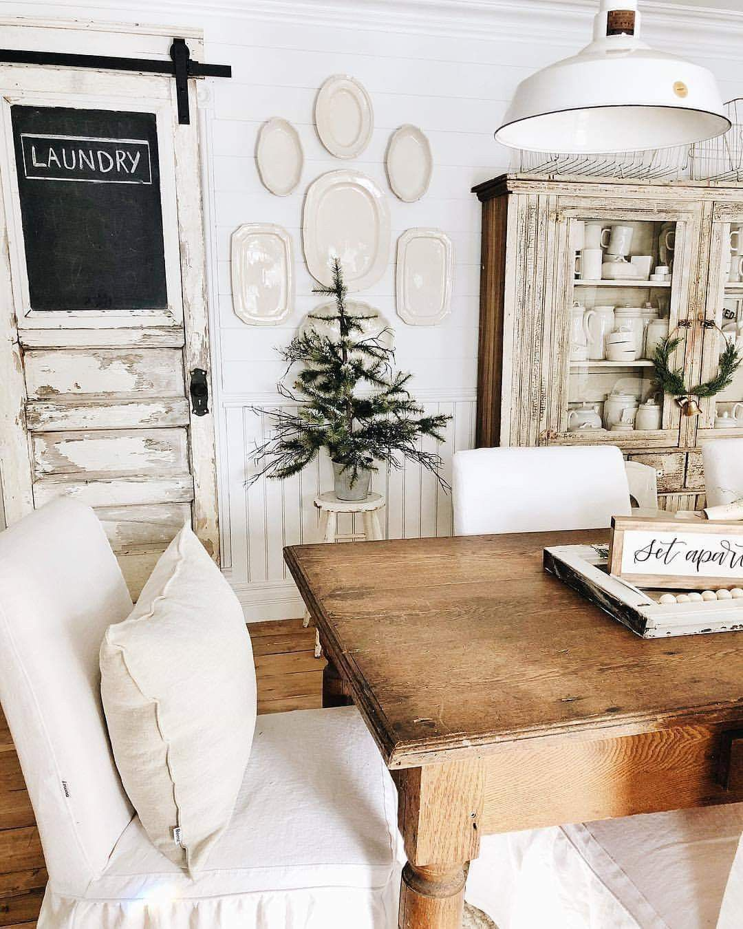 Christmas Dining Room Ideas To Add A Flourish To Christmas: Pin By Jersey Girl In The South Desig On Farmhouse Style