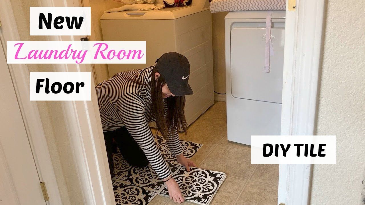Diy Patterned Floor How To Install Peel And Stick Floorpops Youtube Floor Patterns Diy Pattern Flooring