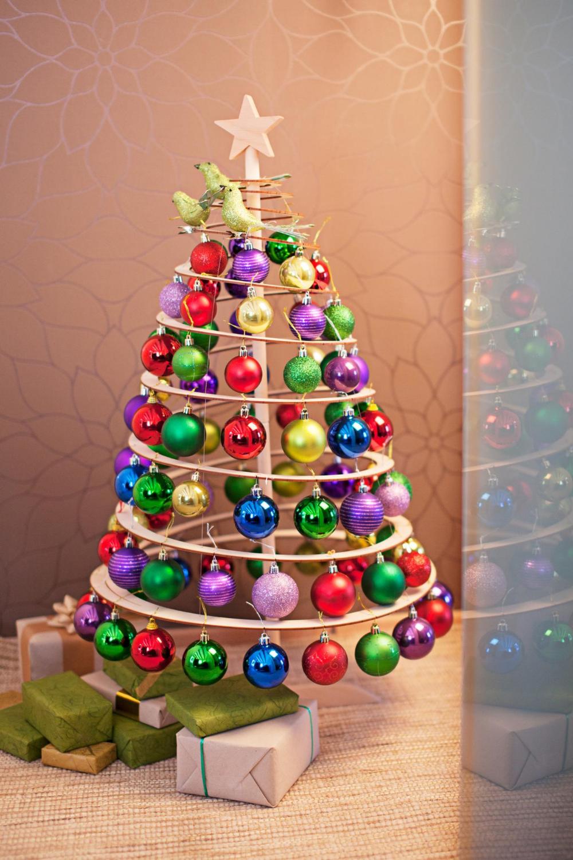 Colourful Christmas Spiral Christmas Tree Wooden Christmas Trees Christmas Decorations