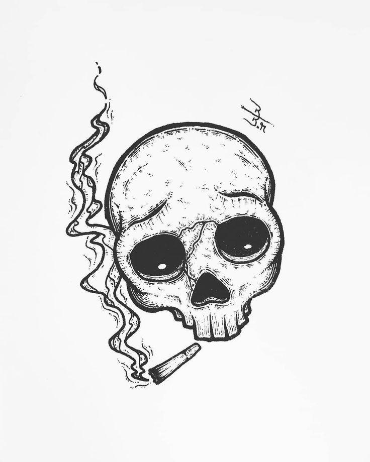 Dope Easy Drawings : drawings, Ideas, Sketches,, Skull, Skeleton