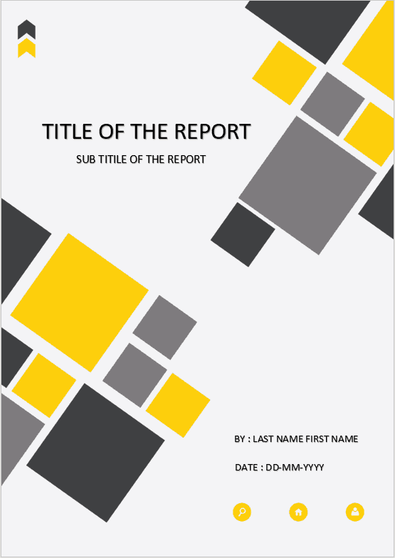 cover page yellow square