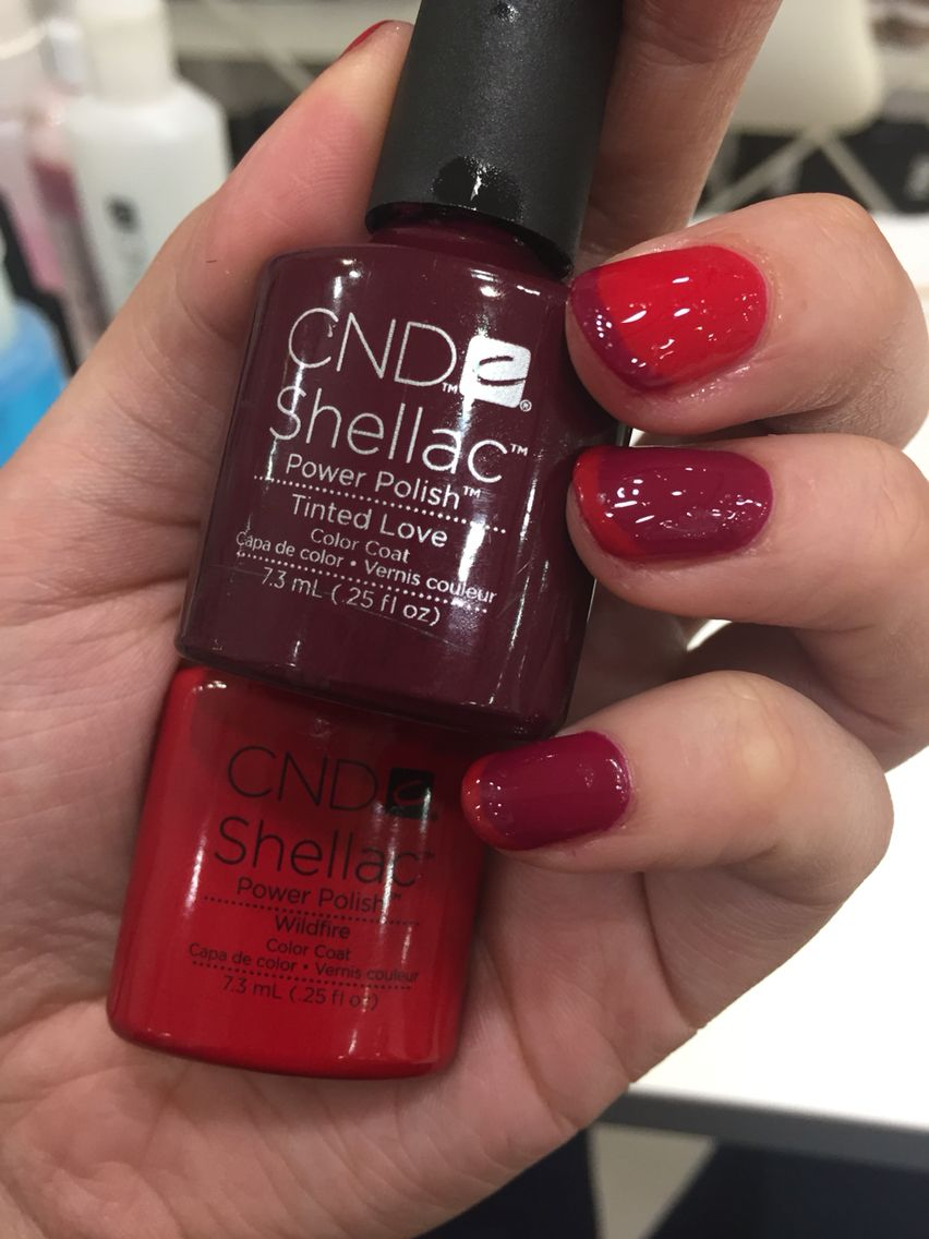Cnd Shellac red purple tinted love and wildfire
