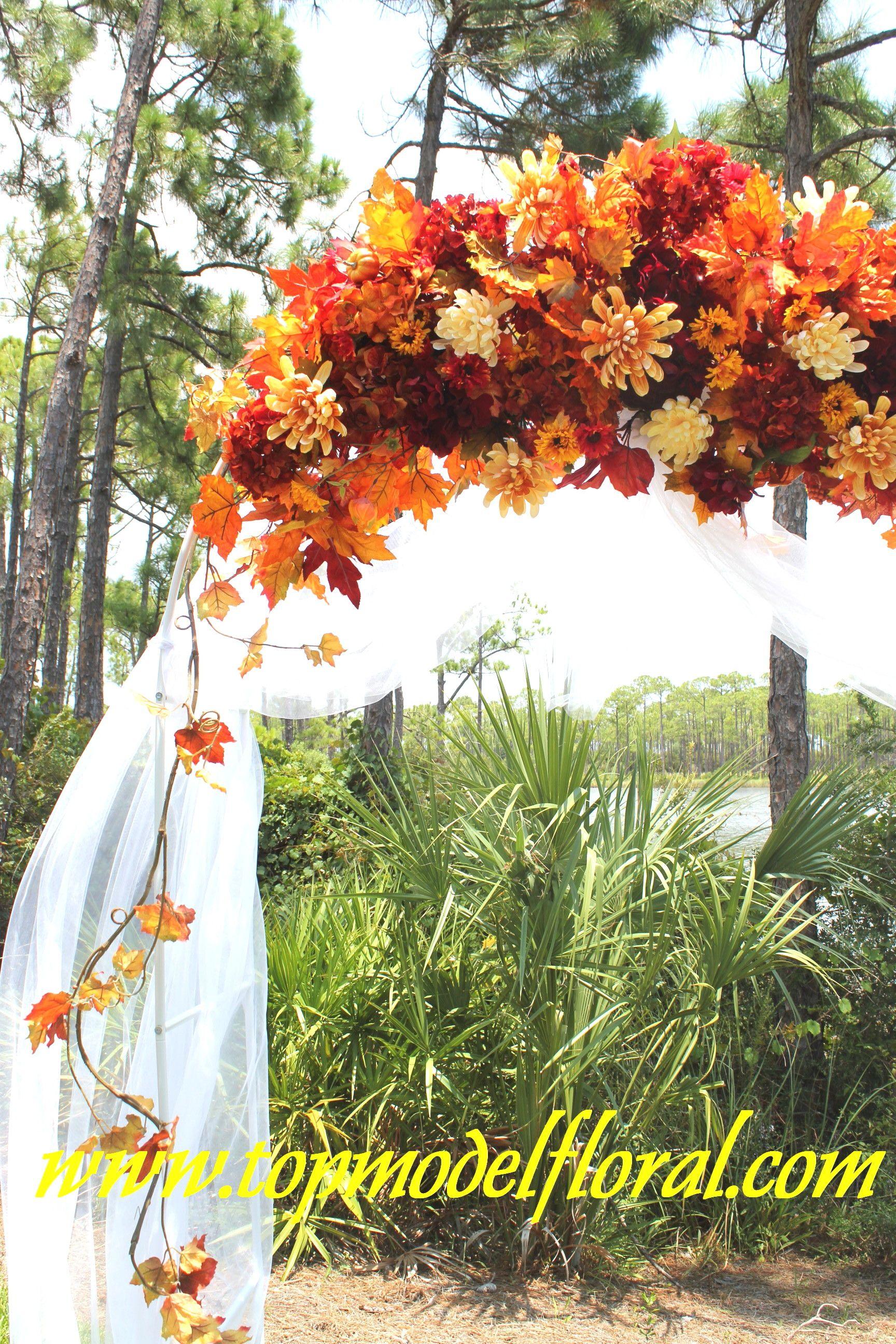 Decorating A Trellis For A Wedding Fall Wedding Arch Decorating Ideas Unique Floral Arrangements