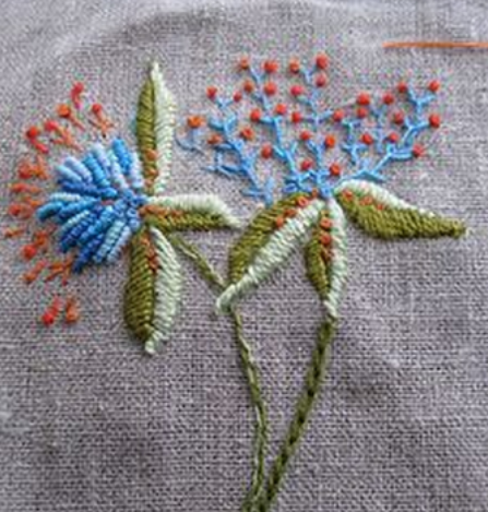 ♒ Enchanting Embroidery ♒ embroidered botanical