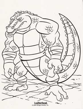 Teenage Mutant Ninja Turtles coloring picture | 380x290