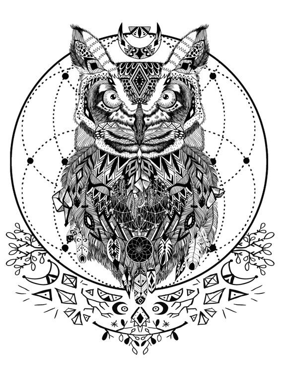Coloring Pages Of Spirit Animals : Wild and free spirit animals printable coloring book