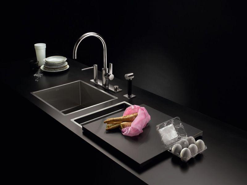 2 Bowl Flush Mounted Sink 38 561 000 Water Units Collection By Dornbracht Kuche Spulbecken Kuche Einrichten Kuche