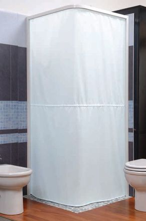Charming Magnetic Shower Curtain And Rail System