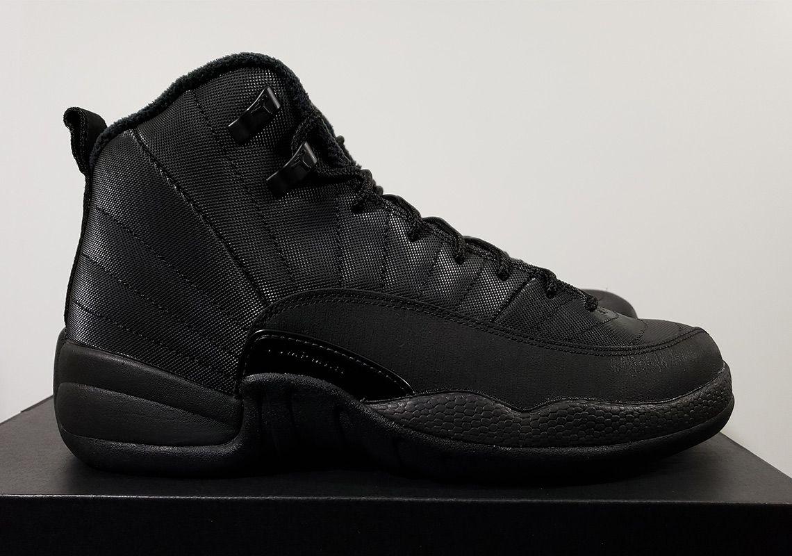Jordan 12 GS Winterized Black Release