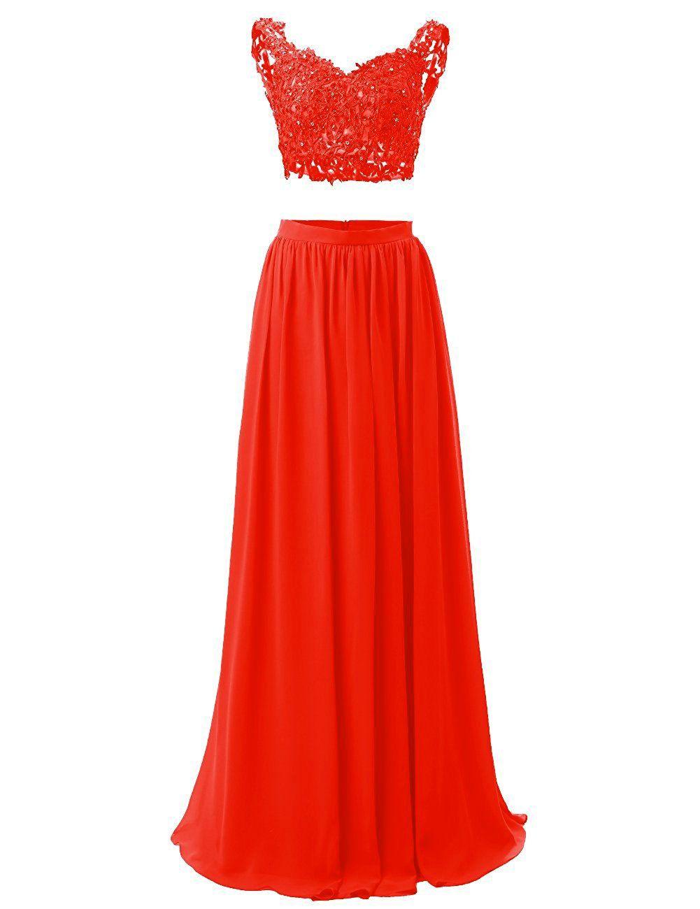 M bridal womenus sequines appliques piece vneck long prom