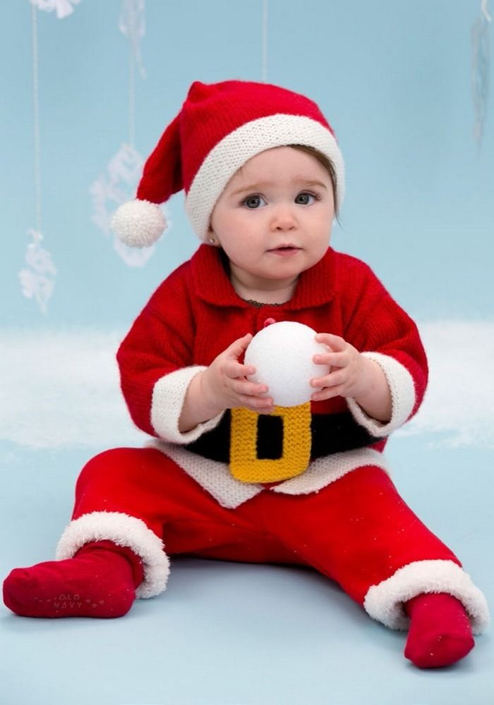 Santa Baby Suit in Red Heart Anne Geddes Baby - LW3670 | Knitting ...