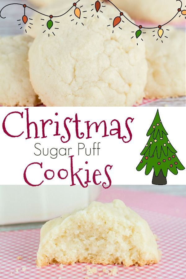 Sugar Puff Cookies Need Christmas cookies?  Make these SUPER SOFT Sugar Puff Cookies.  This recipe is easy to make, and the entire family will love them!