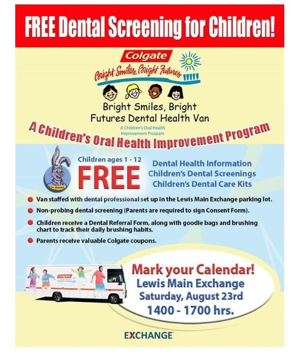 Free Dental Screening For Children Age  Yrs Old At Your Lewis