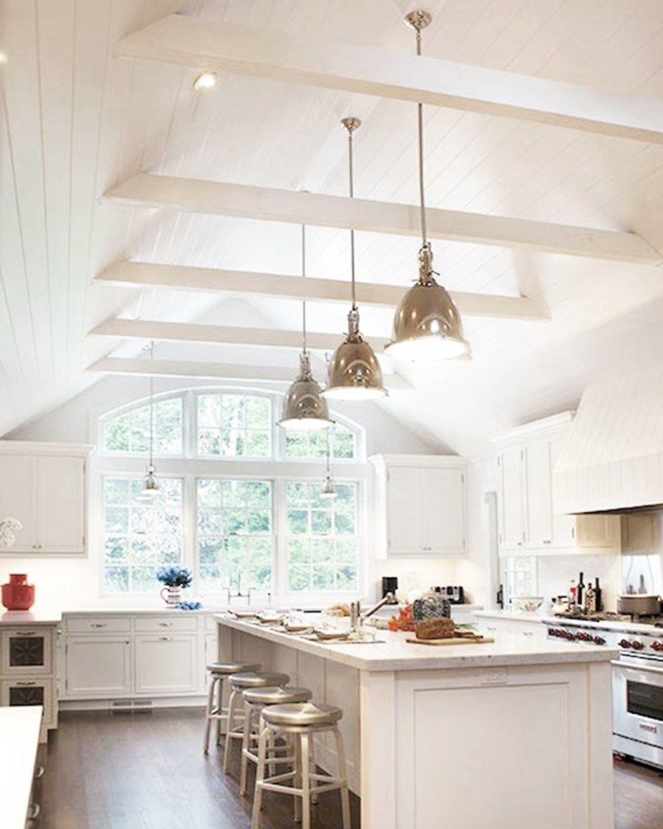 11 Stunning Vaulted Ceilings Cococozy Vaulted Ceiling Kitchen Classic White Kitchen Kitchen Ceiling