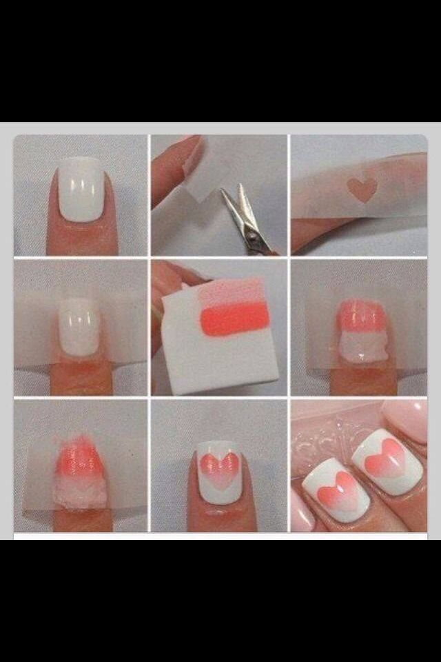 Do it yourself ombr hearts nails pinterest makeup do it yourself ombr hearts valentines dayvalentine nailsdiy solutioingenieria Images