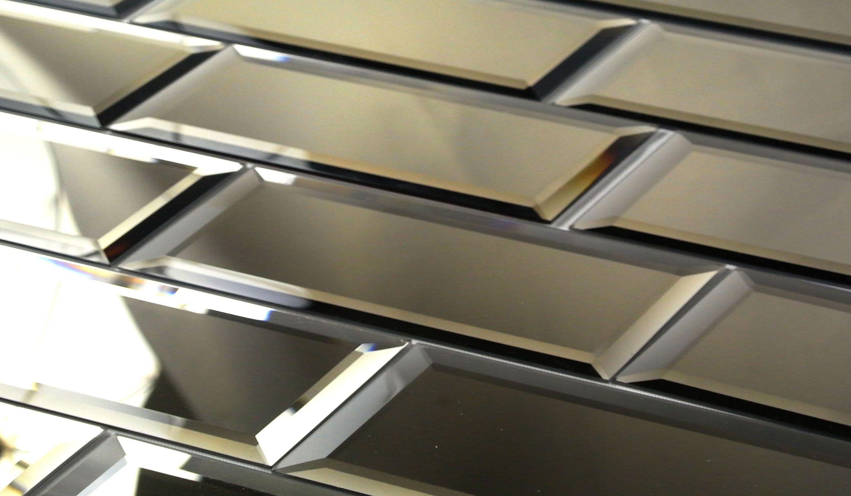 Abolos Echo 3 Quot X 12 Quot Mirror Glass Peel Amp Stick Tile