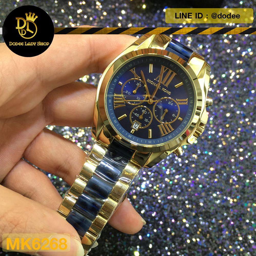 cc3870cf4387 นาฬิกาข้อมือ Michael Kors MK6268 Michael Kors Bradshaw Blue Dial Chronograph  Men s Watch MK6268 -