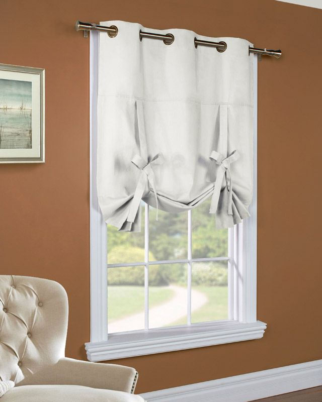 tie up curtains pottery barn | ideas for the home | Pinterest ...