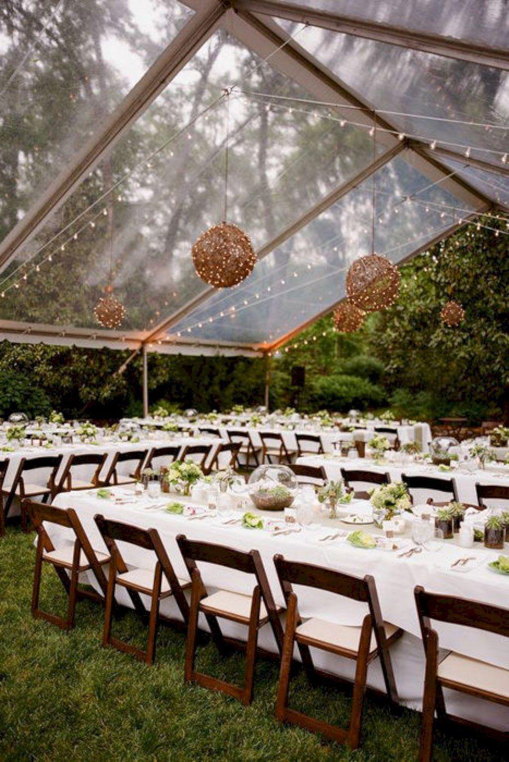65 Sweet Romantic Backyard Wedding Decor Ideas | Romantic ...