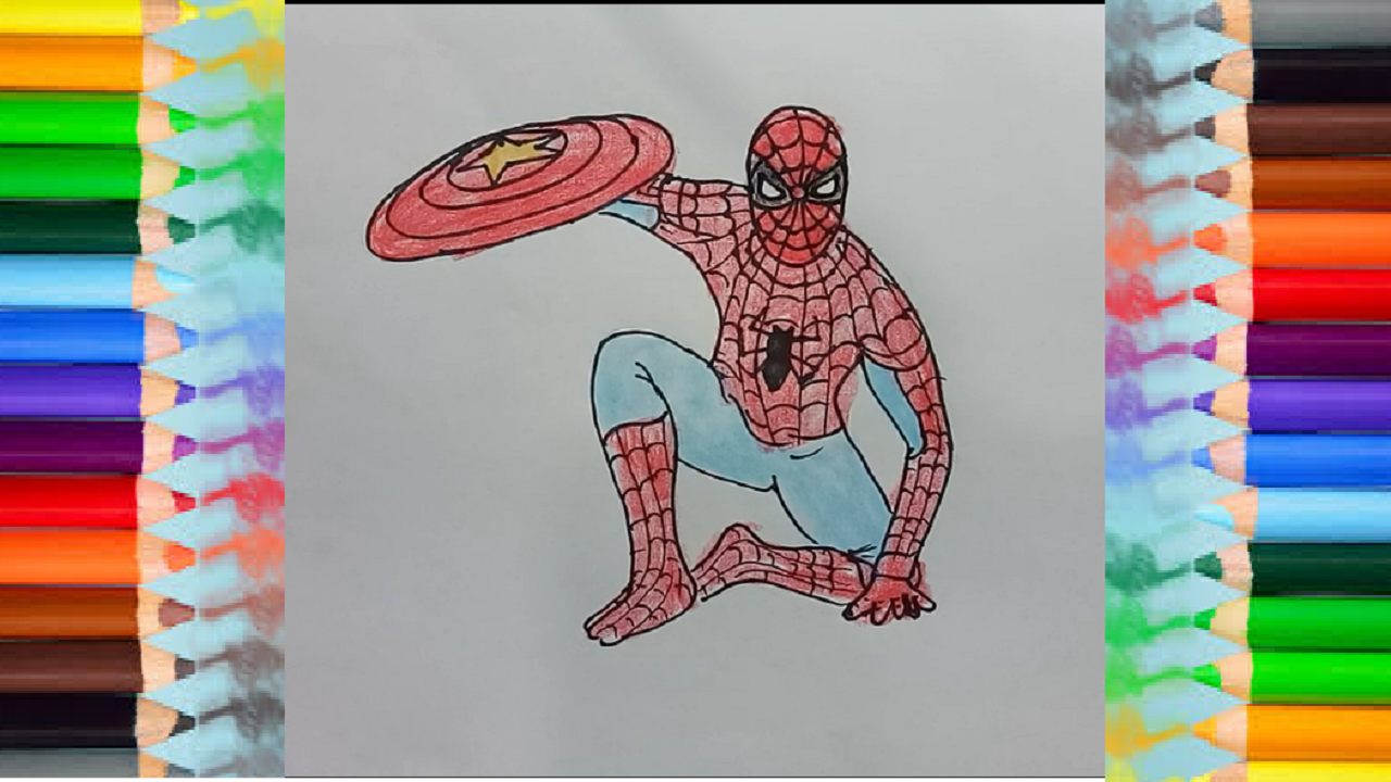 How To Draw Super Hero Spiderman Drawing And Coloring Learn How To Draw Super Hero Step By Step For Kids With Thi Spiderman Drawing Hero Spiderman Drawings