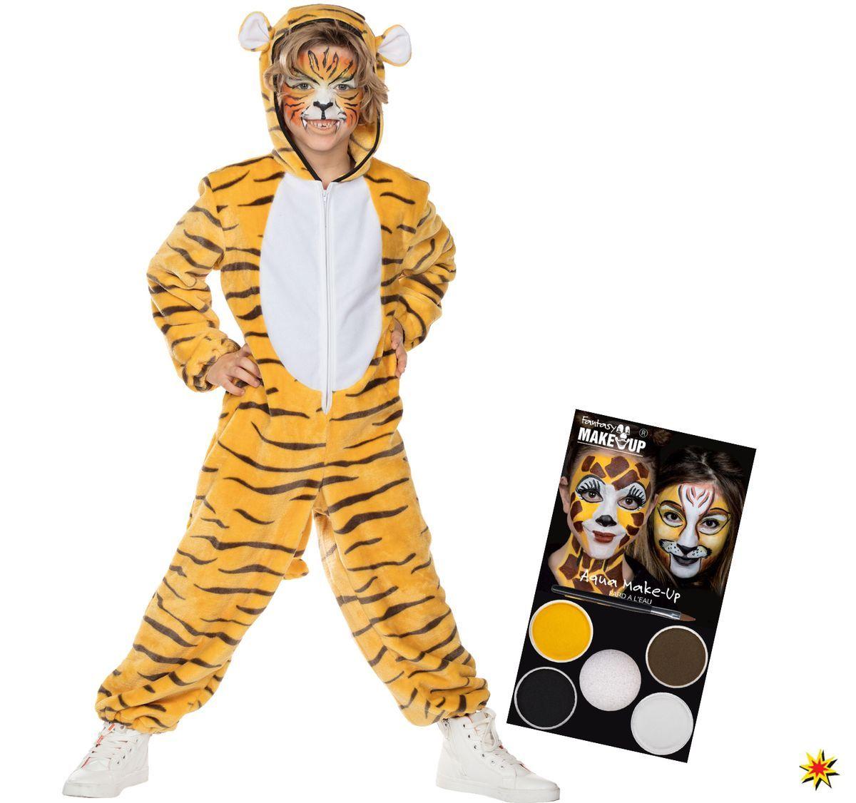 Kinder Kostum Bengalischer Tiger Amar Inkl Schminke Tierkostume