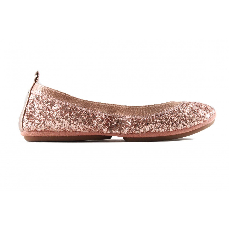 49c564b4faa1 Serena Glitter In Rose Gold - Bridal wedding flats - Yosi Samra ...