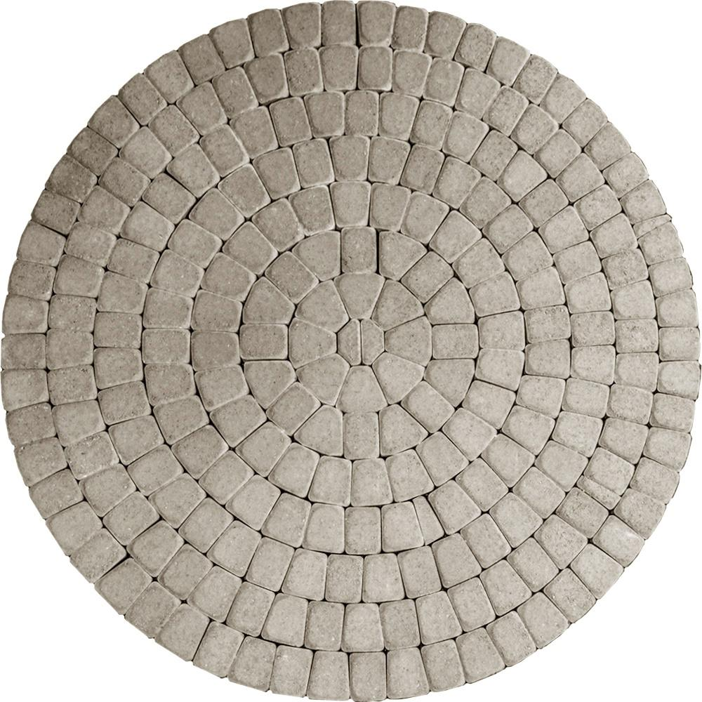 83 52 In X 83 52 In X 2 375 In Summit Blend Concrete Old Dominion Paver Circle Kit Pv060odcrsbm Circular Patio Patio Kits Paver Patio