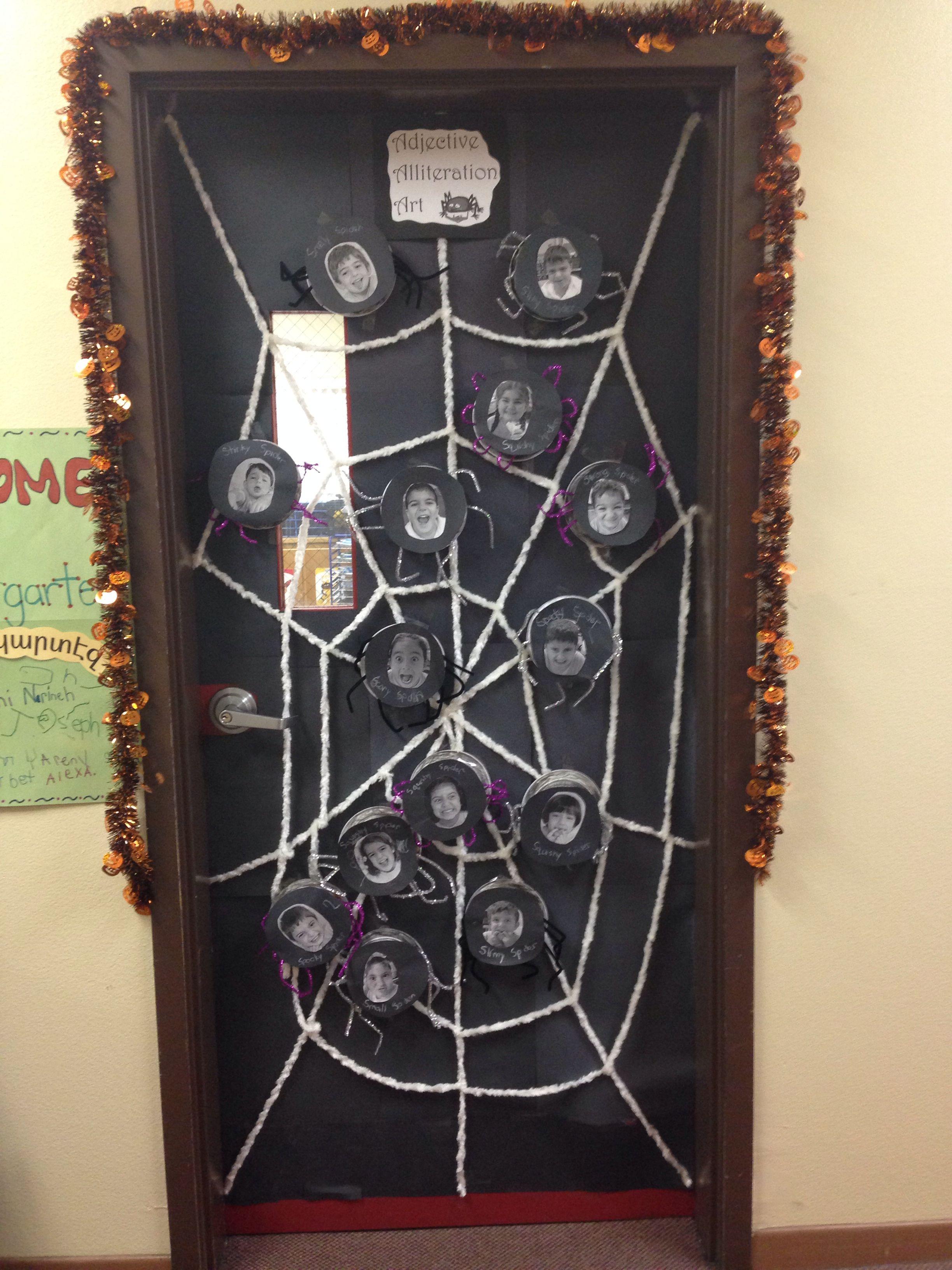 Kindergarten Halloween Activity With Spiders Adjectives
