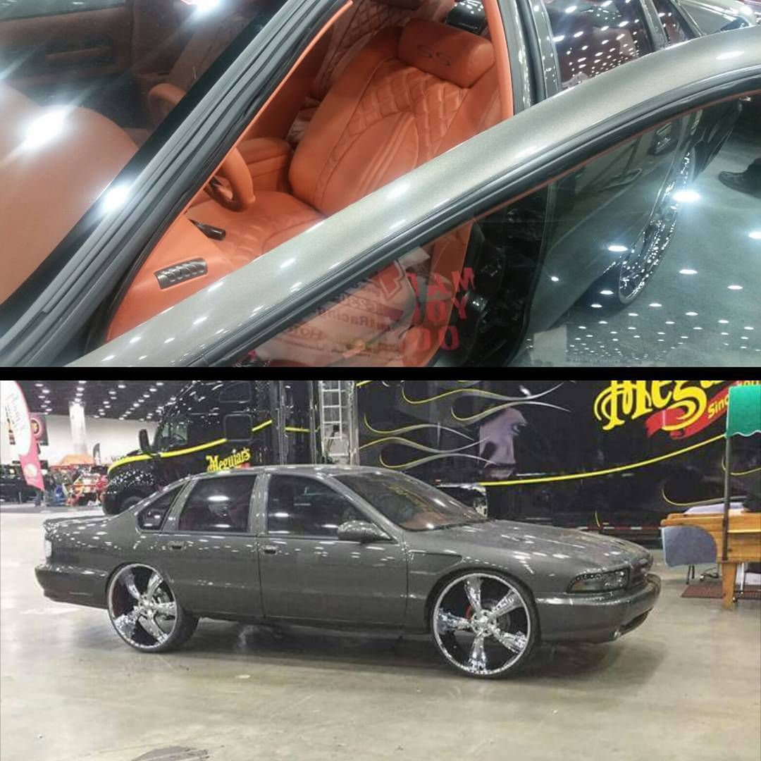 94 95 96 chevy impala ss grey bubble chevy coral interior brown camel  [ 1080 x 1080 Pixel ]