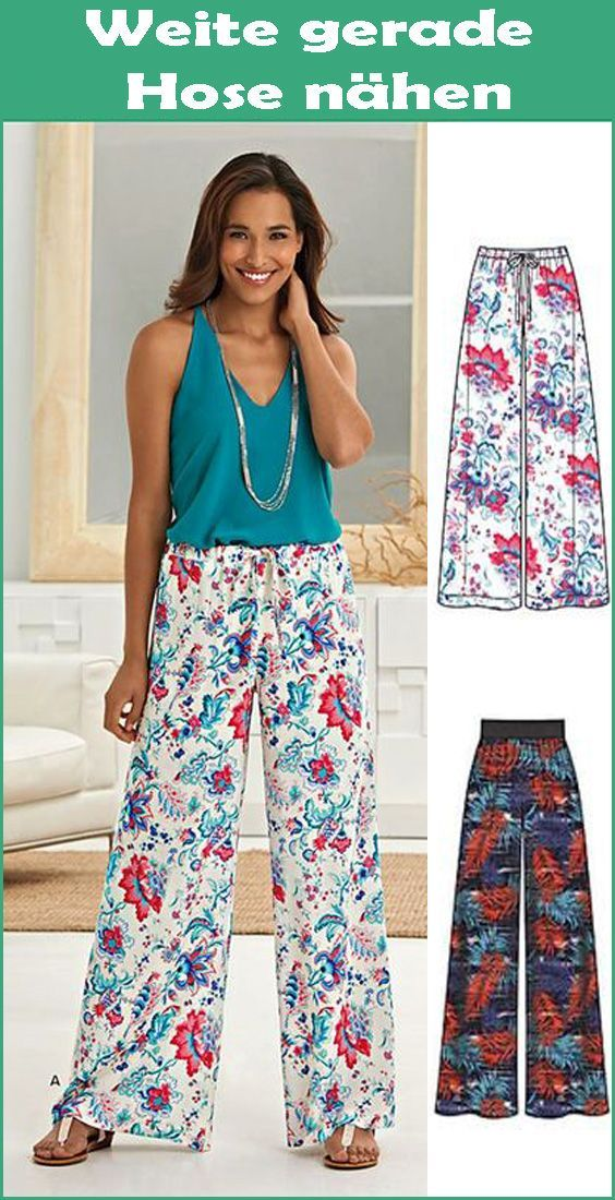 Photo of Sew wide straight pants – Free DIY instructions